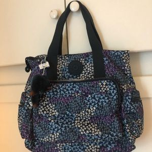 Floral Print Kipling Convertible Backpack Purse